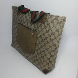 Gucci Bags - GUCCI Vintage Monogram Canvas Large Shopper Tote